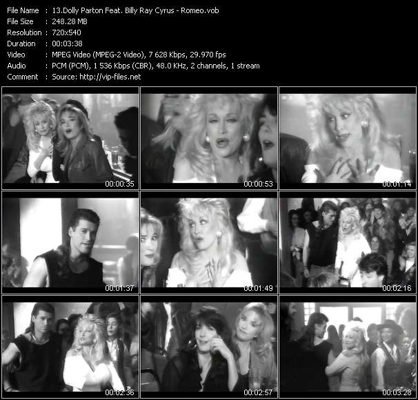 Country Music Video - Dolly Parton Feat. Billy Ray Cyrus / Romeo