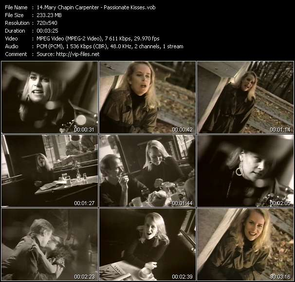 Country Music Video - Mary Chapin Carpenter / Passionate Kisses