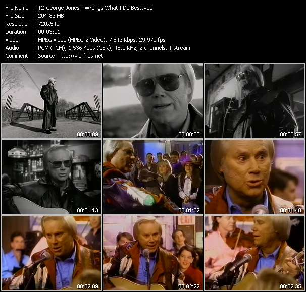 Country Music Video - George Jones / Wrongs What I Do Best