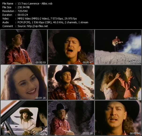 Country Music Video - Tracy Lawrence / Alibis