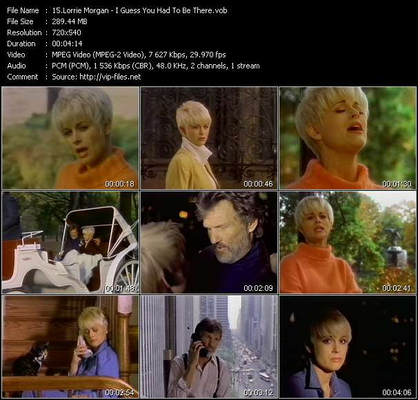 Country Music Video - Lorrie Morgan / I Guess You Had To Be There