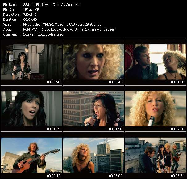 Country Music Video - Little Big Town / Good As Gone